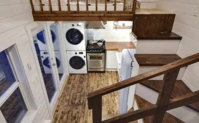 Rustic 24ft Loft Edition Tiny House For Sale In Delta