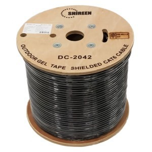 CAT6 Outdoor Cable Ethernet Double shielded 305 Meters (Black)
