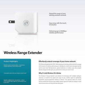 Wi-Fi Extender 300 Mbps D-Link (DAP-1320)