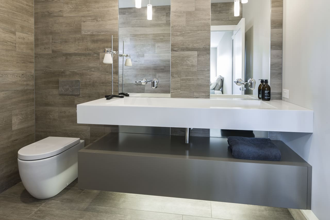 timber plank tiles achieves organic