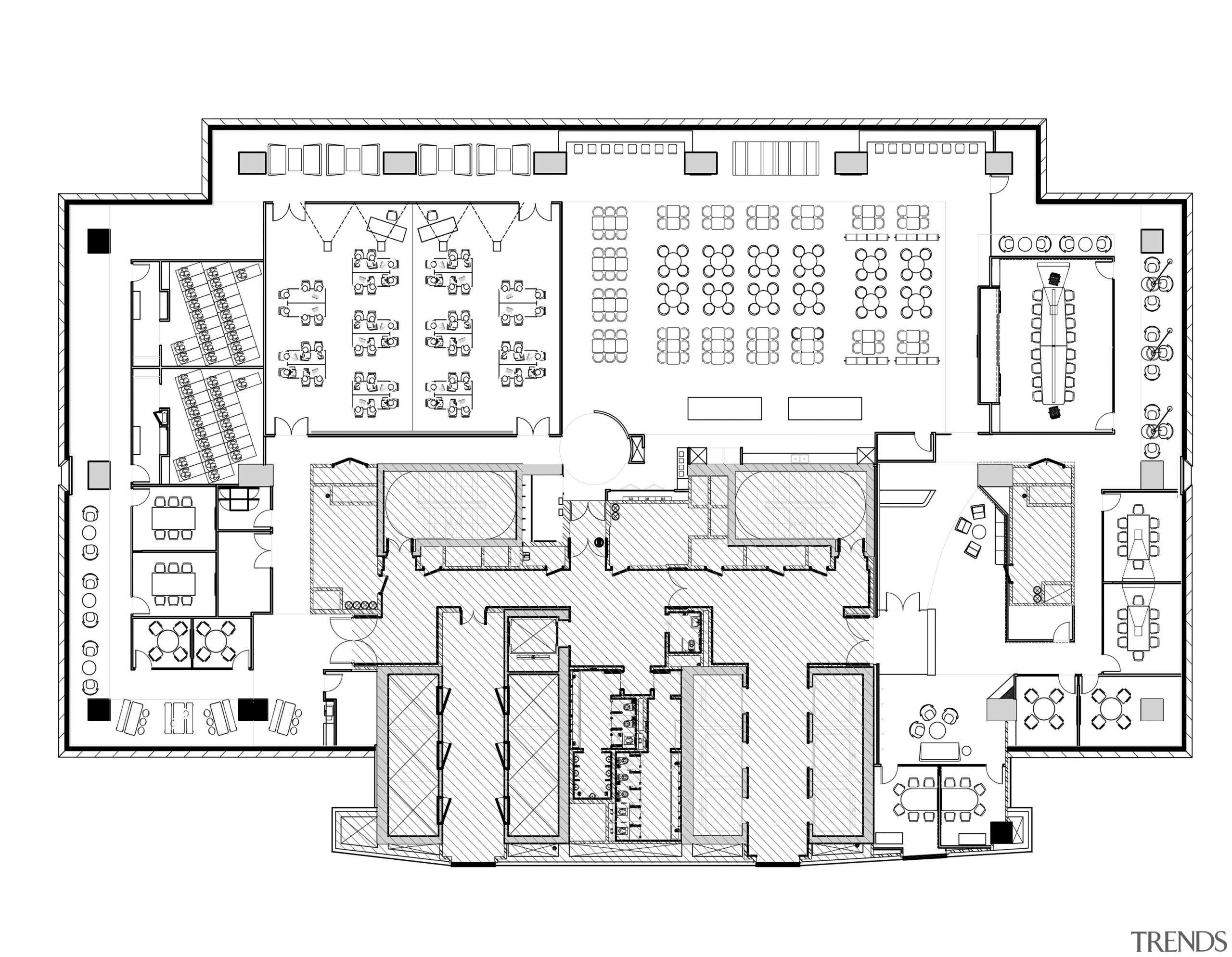 This Partial Plan Of A Back Office Floor Shows The