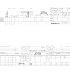 axonometrics of the bahrain world trade centre  [ 2560 x 1325 Pixel ]