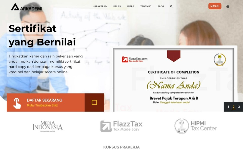 Arkademi Aplikasi Kurusu Online Bersertifikat