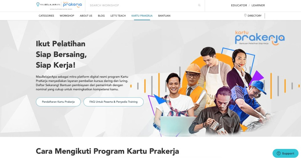 MauBelajarApa.com Aplikasi Kurusu Online Bersertifikat