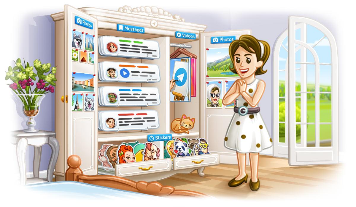 telegram save messages