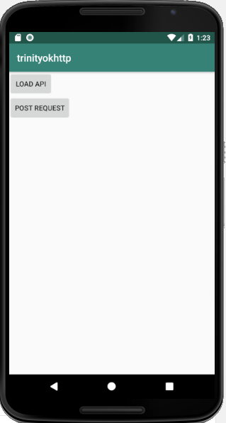 GET And POST request using OKHttp Android