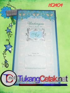 Undangan Pernikahan Murah Tangerang Hard Cover Blue