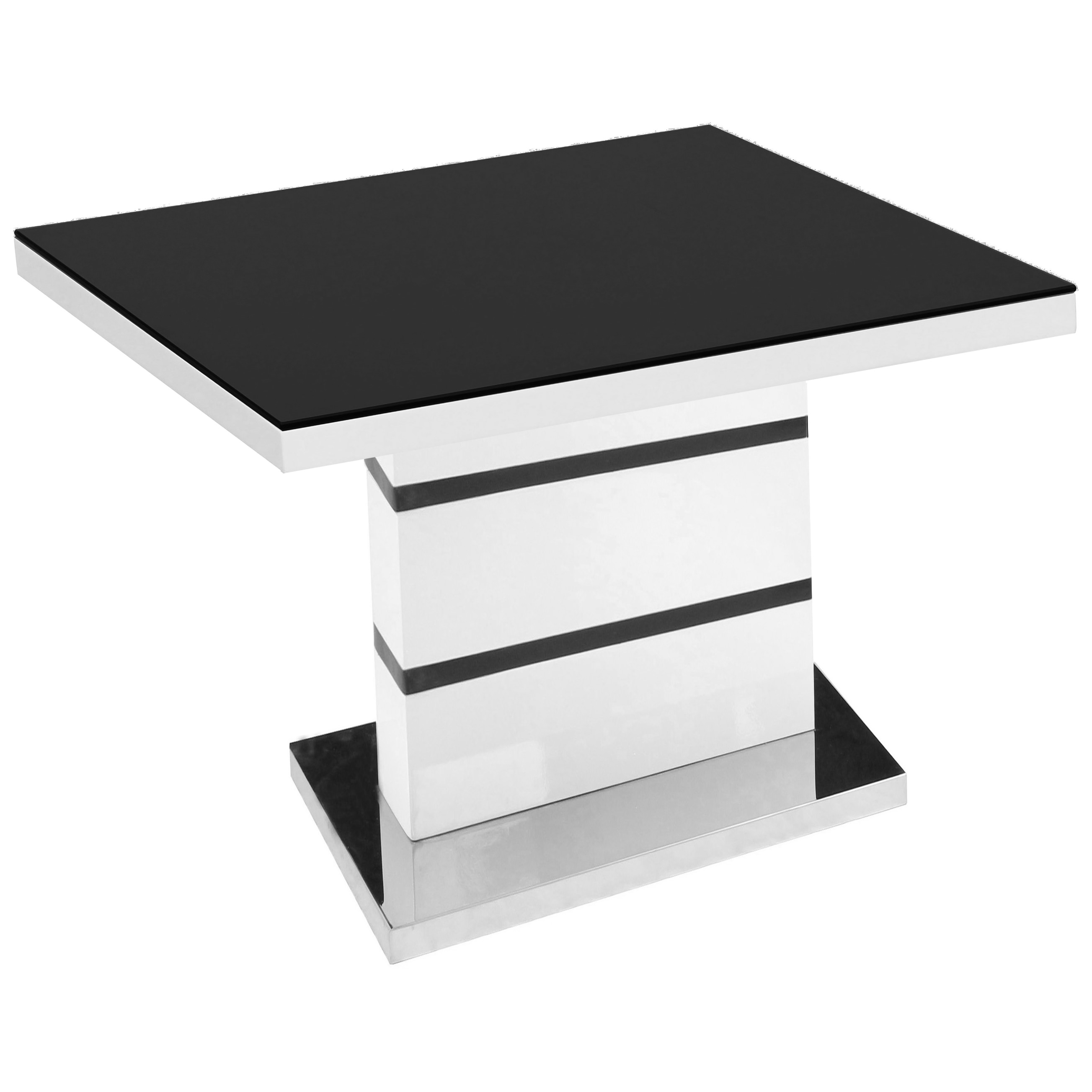 details about black glass high gloss white end lamp small side coffee table