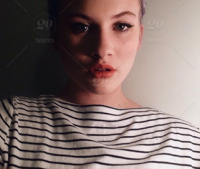 Stock Photo Portrait Fashion Girl Selfie Facial Expression Beautiful