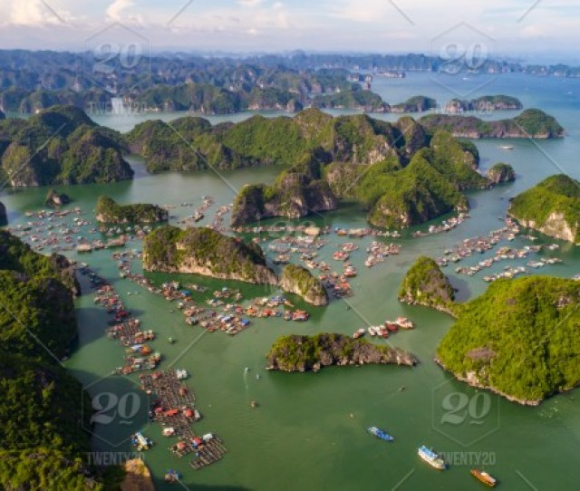 Cat Ba Island From Above Lan Ha Bay Hai Phong Vietnam