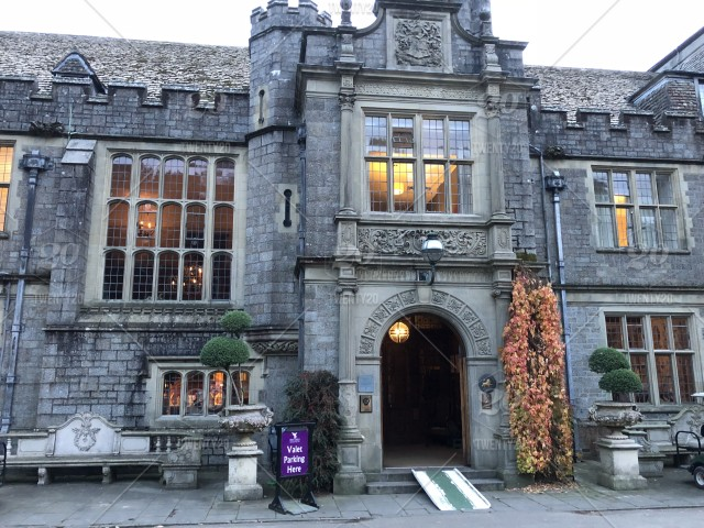 Entrance To The Hugely Popular Bovey Castle On The Edge Of