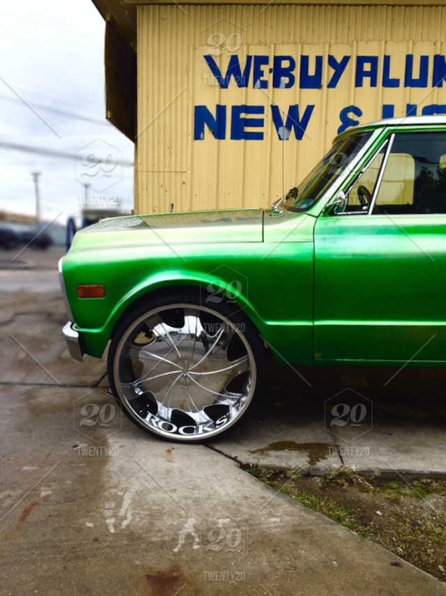 old green pickup truck