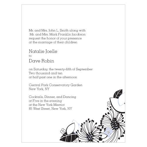 Floral Fusion Invitation Lilac