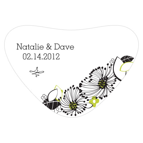 Floral Fusion Heart Container Sticker Leaf Green