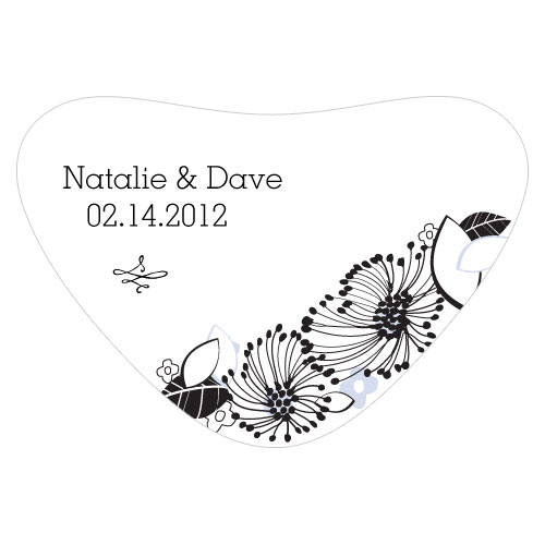 Floral Fusion Heart Container Sticker Lilac