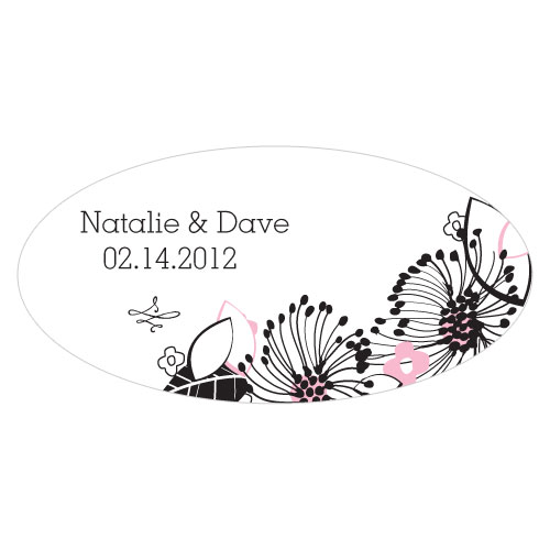 Floral Fusion Large Cling Pastel Pink