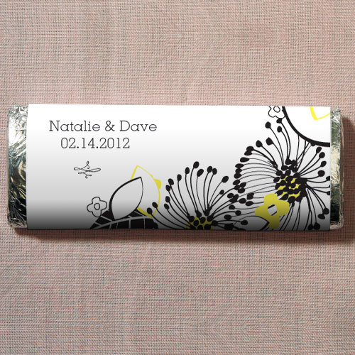 Floral Fusion Nut Free Gourmet Milk Chocolate Bar Lemon Yellow