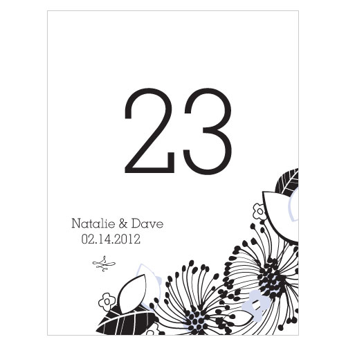 Floral Fusion Table Number Numbers 25-36 Lilac