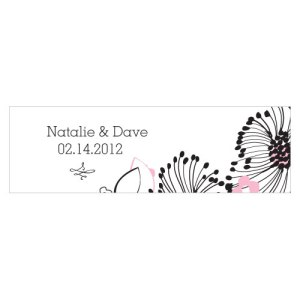 Floral Fusion Small Rectangular Tag Pastel Pink