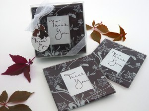Falling Leaves Leaf Themed Glass Photo Coasters Set Of 2 Glass Coasters