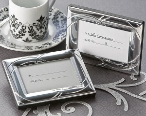 Double Ring Romance Mini Photo Frame Place Card Holder