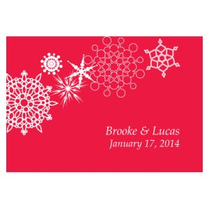 Winter Finery Large Rectangular Tag Red