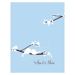 Love Bird Note Card Winter