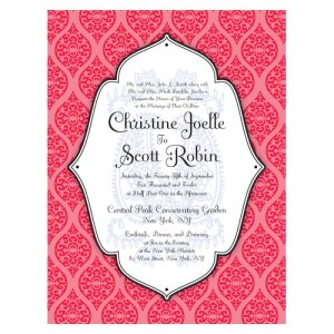 Moroccan Invitation Red
