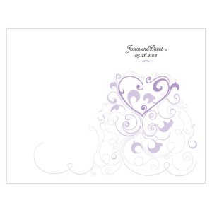 Heart Filigree Program Lavender