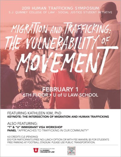 2019 flyer for human trafficking symposium