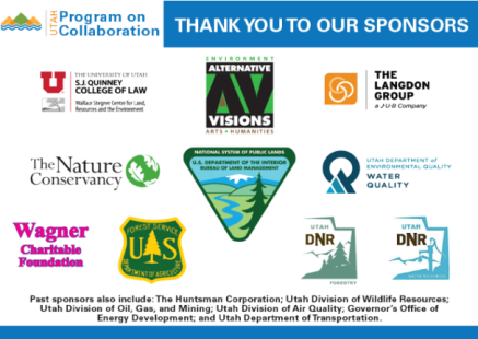 Utah Program on Collaboration partner logos listed as a thank you.