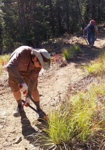 Trail work on the Watershed Crest Trail Photo credit: Jim Mellen