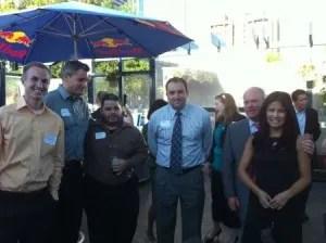 2L's Tyson Hafen, Ben Onofrio, and Javier Mixco and attorneys Steve Burt, Scott Bates, and Angelina Tsu