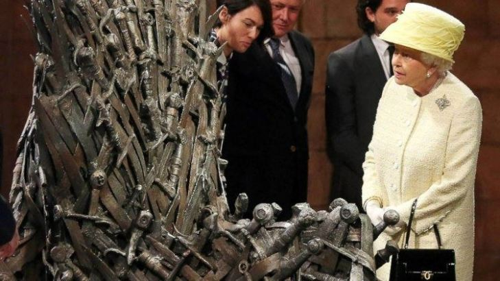 Queen Elizabeth visited the sets of Game of Thrones