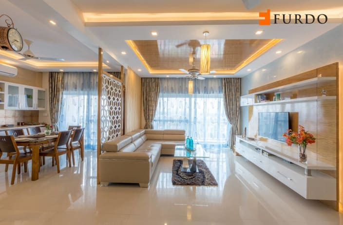 living room false ceiling designs images mustard yellow ideas design and photos with urbanclap the l shaped sofa artistic