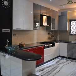 Kitchen Design Ideas Images Curtians 1 000 Modular Pictures U Shaped With Modern Cabinets And Wall Decor