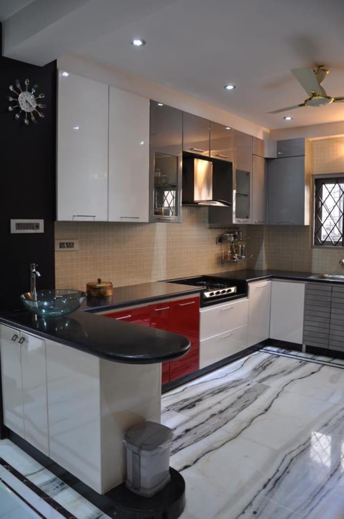kitchen design pictures off white cabinets 1 000 modular ideas u shaped with modern and wall decor