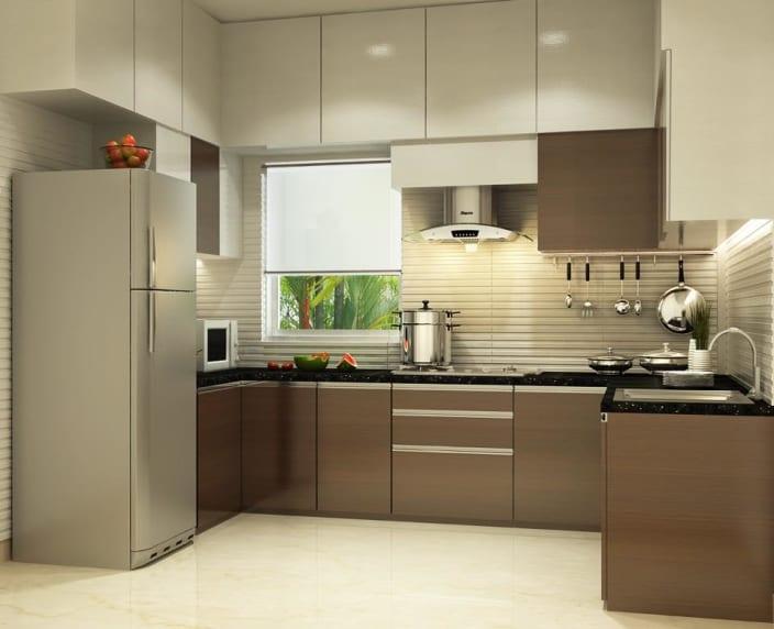 U Shaped Kitchen With Modern Cabinets And False Ceiling By Prashant Mali UrbanClap