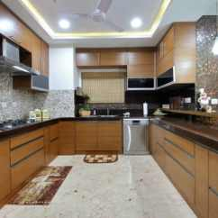 Kitchen Design Budget Rustic Island Lighting Modular Ideas And Photos Urbanclap U Shape With Wooden False Ceiling