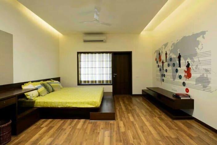wooden flooring bedroom designs