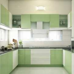 Kitchen Design Budget 3 Piece Appliance Set Modular Ideas And Photos Urbanclap U Shaped Black Granite Top With Pistachio Colored Cabinets