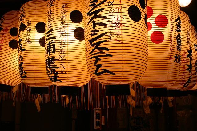 Lanterne tipiche a Tokyo