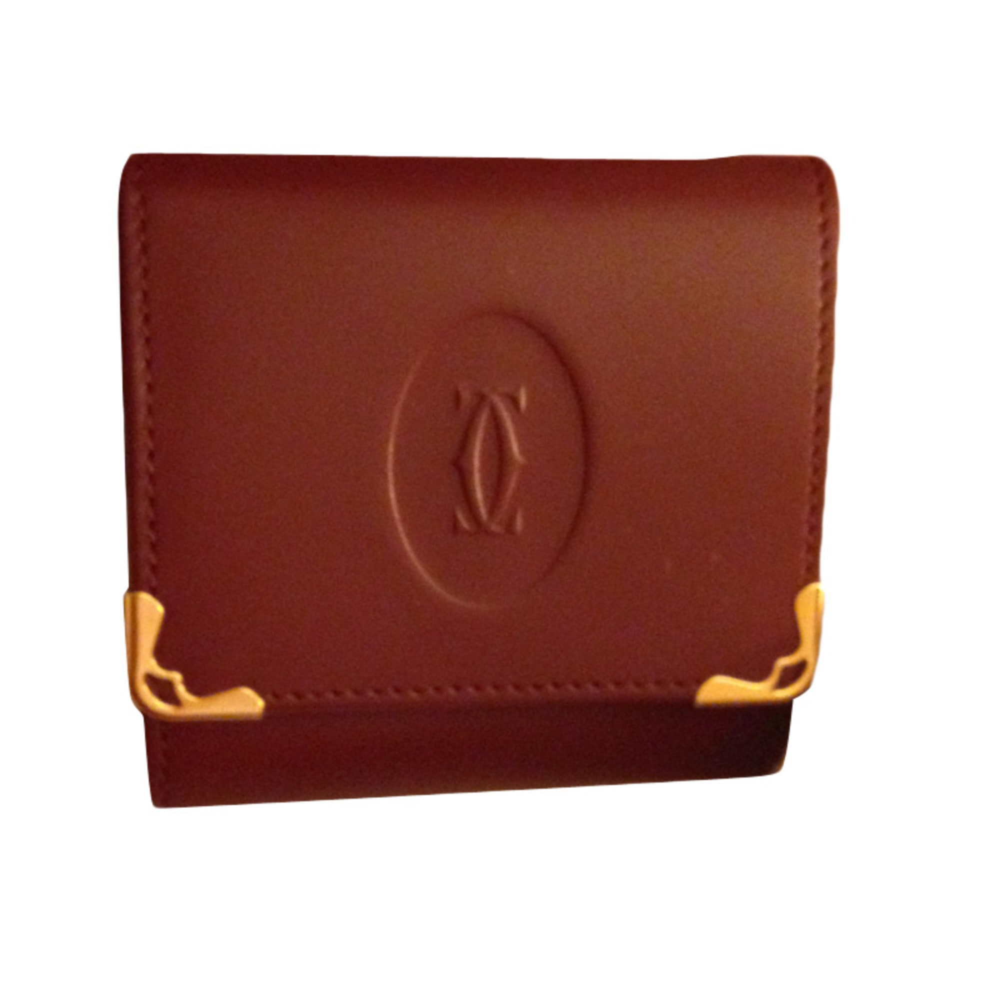 porte monnaie cartier marcello rouge bordeaux