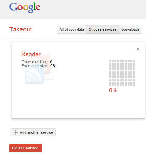 Google Takeout not being helpful