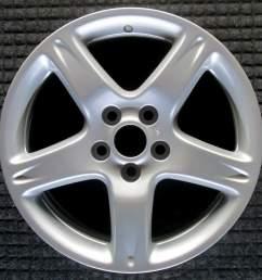 lexus gs430 17 all silver oem wheel 1998 2002 426113a111 426113a072 [ 1000 x 1000 Pixel ]