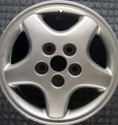 mitsubishi diamante 15 oem wheel 1992 1993 mb763165 [ 1000 x 1000 Pixel ]