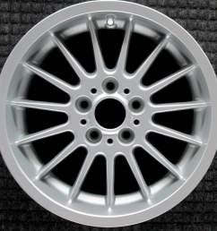 bmw 525i 17 all silver oem wheel 1997 2003 36111092961 1092961 [ 1000 x 1000 Pixel ]