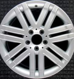 mercedes benz c300 all silver 17 inch oem wheel 2008 2009 2044010502 204401050 [ 1000 x 1000 Pixel ]