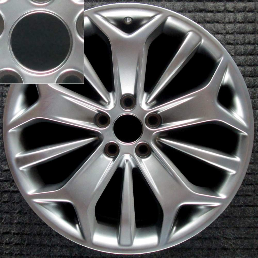 medium resolution of ford taurus 19 hyper w center cap lip oem wheel 2013 2017 dg1z1007j