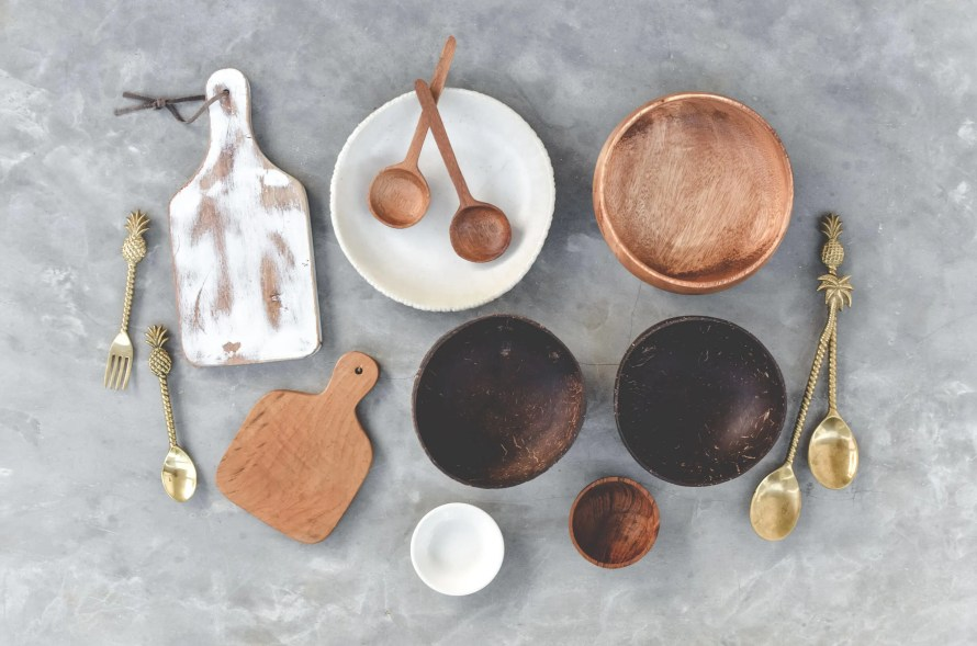 Plates, Spoons, Bowls and Choppping Boards